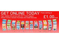Domain, Hosting, Website from £10