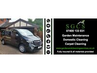 Garden maintenance and domestic/carpet cleaning services for all your needs.