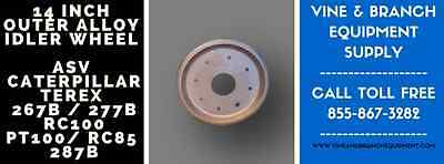 2 X Alloy 10in Outer Wheels Asv  Cat 267 277 287 Rc100 Rc85 Rcv