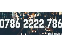 Gold Mobile Phone Number Exclusive Platinum Sim Card VIP Easy 0786 2222 786 Cheap
