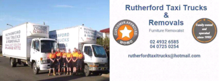 Rutherford Taxi Trucks and Removals