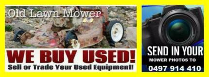 OLD BROKEN OR WORKING LAWN MOWERS Melton Melton Area Preview