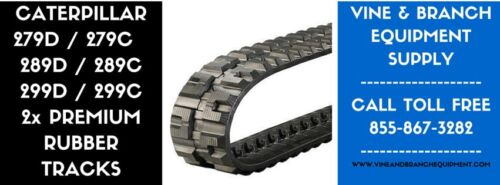 2 X PREMIUM RUBBER TRACKS  CATERPILLAR 279 / 289 / 299 / 289