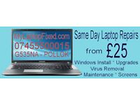 Sameday FULL Laptop Maintenance Service - Windows Install & Laptop Cleaned Inside and Out