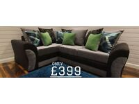 BRAND NEW HANDMADE DQF Maddison 8ftx6ft Corner Sofa. ONLY £399!