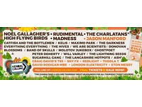 Kendal Calling ticket FREE TRAVEL Leeds to Manchester to Kendal, FREE Thursday ticket & camping