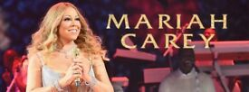2 Mariah Carey paper tickets London O2 Arena Block 101 next to the stage! Monday 11th December