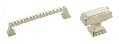 AMEROCK MULHOLLAND SATIN NICKEL KITCHEN CABINET HARDWARE DRAWER KNOB OR PULL Amerock Mulholland Cabinet Knob