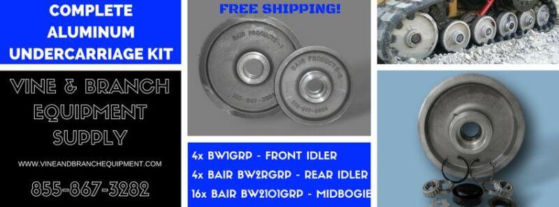 Asv Complete Bair Aluminum Undercarriage Kit Rc50 / Rc60 / Pt50