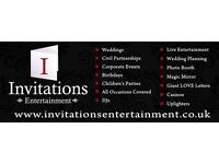 Invitations Entertainment Ltd. DJs, Photo Booths, Giant LOVE letters, Magic Mirrors and more