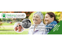 Healthcare Assistants - Companions and Live In Care Positions with Helping Locally