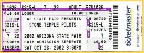 2002 STONE TEMPLE PILOTS concert ticket Arizona State Fair WEILAND DeLEO