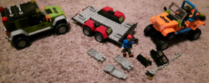 Lego Jeeps and trailer