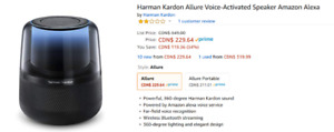 Haut parleur Bluetooth Allure de Harman Kardon - NEUF