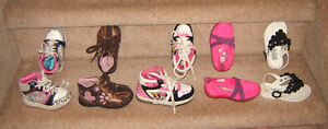 Girls Footwear - sz 4, 5, 6 / Clothes 18, 18-24, 24 mos, sz 2