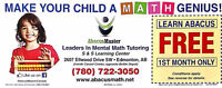 Free Math tutoring first month tuition fees