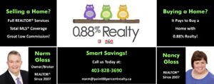 20% Home Buyer's Rebate*, Low Listing Commission, 0.88% Realty