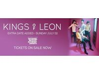 KINGS OF LEON 3 ARENA DUBLIN SUNDAY 2 JULY - 2 x STANDING TICKETS - SOLD OUT WEEKEND SHOW