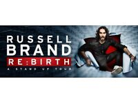2 Russell Brand Re:Birth Netflix Filming Special Stalls Row K tickets Hackney Empire Wed 18th April