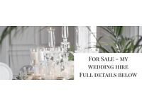 LUXURY WEDDING DECOR BUSINESS FOR SALE