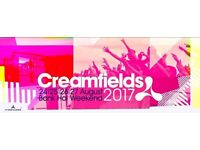 Creamfields Gold Festival 24-27th August 2017