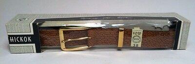 vintage Hickok Mens Leather Belt Size 38 NOS