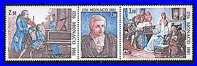 MONACO 1981 COMPOSER MOZART PAINTINGS SC#1277a MNH  MUSIC  COSTUMES](Mozart Costume)
