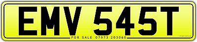 EMV 545T EM EV classic 1978 number plate all fees inc BMW 545 i Turbo