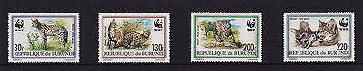 Burundi - 1992 The Serval (WWF) - U/M - SG 1543-6