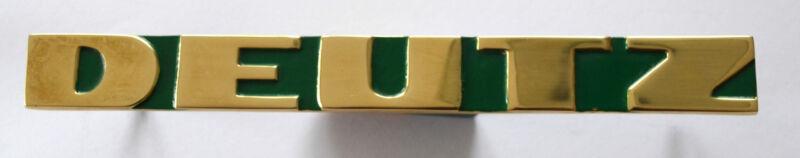 Emblem für Deutz für vorne für Traktor Massiv Messing poliert ca. 190 mm lang Foto 1