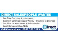 Field Sales Required In London and Surrounding Areas
