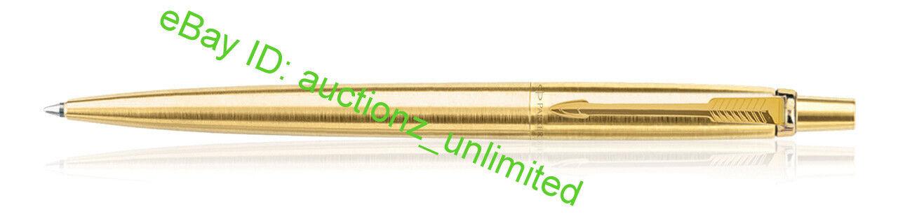 Parker Jotter Gold GT Ball Pen Ballpoint Brand New Sealed 100% Original Blue ink