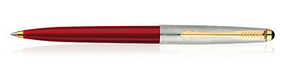Parker Galaxy Jotter Classic GT Ball Point Pen RED Body Blue Ink Gold Trim New