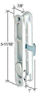 CRL White Sliding Screen Door Latch and Pull with 2-5/8