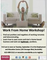 Work from Home Workshop - Sept. 15 at EEC!