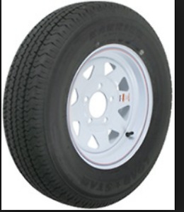 2=13in radial trailer tires on rims
