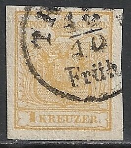 Austria-stamps-1850-YV-1-CANC-F-VF
