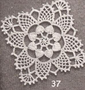 Medallion-block (Vintage Crochet PATTERN to make Motif Medallion Block Bedspread Stardust)