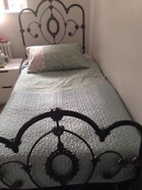 Laura Ashley single black bed frame. Good condition cost £550 new