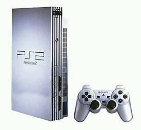 PS2 Silver + Controller