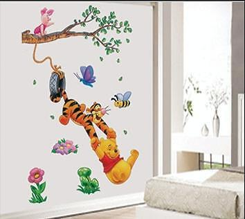 Winnie The Pooh Tiger Large Removable Wall Sticker Decal for Kids Decor Home AU