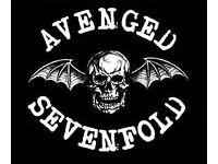 AVENGED SEVENFOLD - FLOOR STANDING - O2 ARENA - SAT 21/01 - £70!
