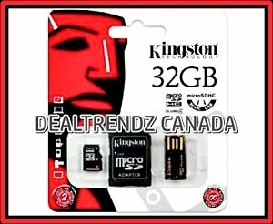 KINGSTON 32GB MICRO SDHC CL4 NEW MEMORY CARD SEALED ⚡ $35 OBO