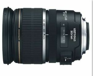 Canon EF-S  17-55 mm  f/ 2.8  IS USM