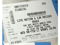 Drake Standing Ticket, Leeds Wednesday 8th February