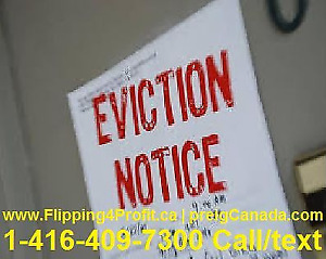 Avoid Eviction by the Bank or Sheriff in Kitchener