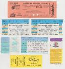 Concert Ticket Stub Lot