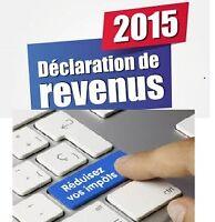 IMPÔT 2015 FAIT PAR UN COMPTABLE PROFESSIONNEL AGRÉÉ