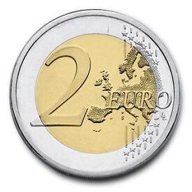 55 Euros in 1 and 2 euro coins for sale...Worth 47£