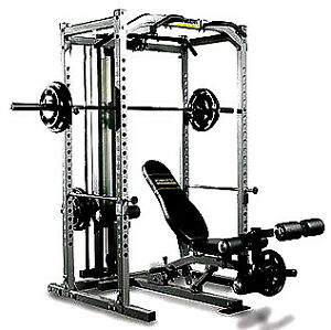 Powertec Power Rack with Lat Tower